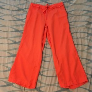 Ashley Stewart Wide Legged Orange Pants 14W J36